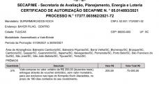 CERTIFICADO DE AUTORIZAÇÃO SECAP/ME N. ° 05.014893/2021 PROCESSO N.° 17377.003562/2021-72