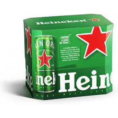 Cerveja Heineken Lata Cx C.6 250 Ml