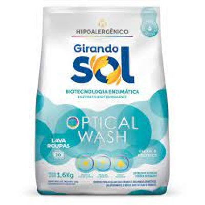 Lava Roupas Girando Sol Po Azul Sac1,6Kg