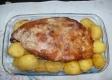 Paleta suína com batata ao forno