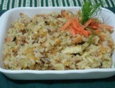 Arroz 7 grãos com requeijão e legumes (Light)